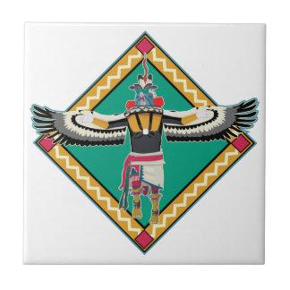 Kachina Dancer Ceramic Tile