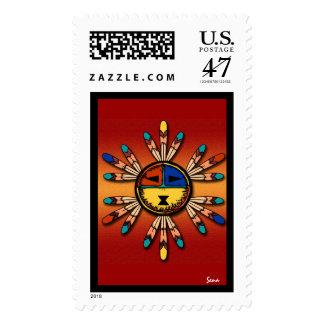 Kachina emplumó el tocado timbre postal