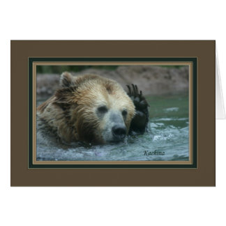 kachina_grizzly bear with paw to head 5615 card