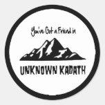 Kadath desconocido pegatina redonda