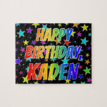 "[ Thumbnail: ""Kaden"" First Name, Fun ""Happy Birthday"" Jigsaw Puzzle ]"