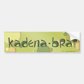 Kadena Brat Bumper Sticker #8