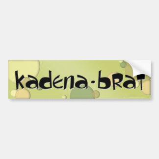 Kadena Brat Bumpersticker #2 Bumper Sticker