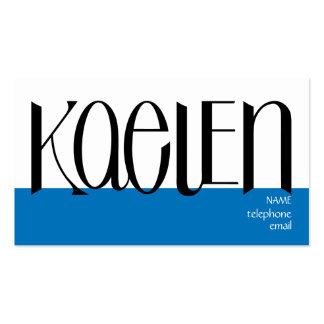 Kaelen black Profile Card Double-Sided Standard Business Cards (Pack Of 100)