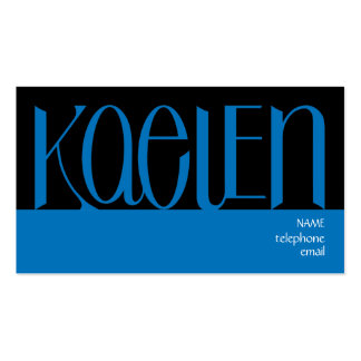 Kaelen blue Profile Card Double-Sided Standard Business Cards (Pack Of 100)