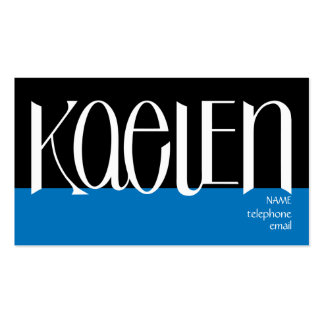 Kaelen white Profile Card Double-Sided Standard Business Cards (Pack Of 100)