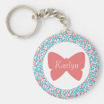 Kaelyn Butterfly Dots Keychain