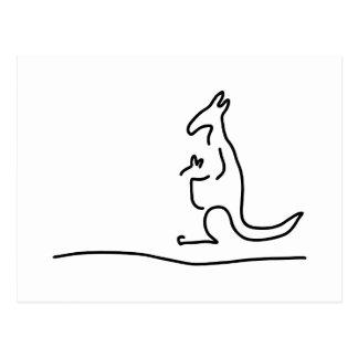 kaenguruh kaenguru beutel baby postales