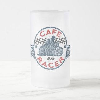 Kaff racer frosted glass beer mug