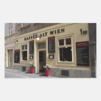 Kaffee Alt Wien, Vienna Austria Rectangular Sticker