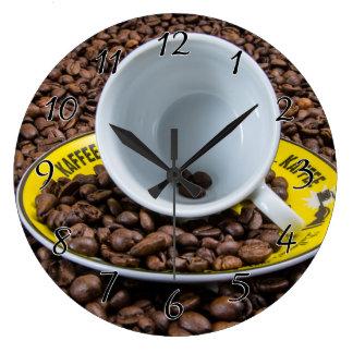 Kaffee Beans Large Clock