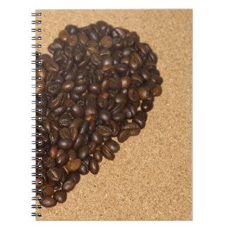 kaffeebohnen libretas espirales