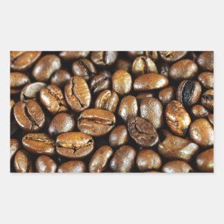 Kaffeebohnen Pegatina Rectangular