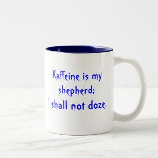 Kaffeine Prayer Two-Tone Coffee Mug