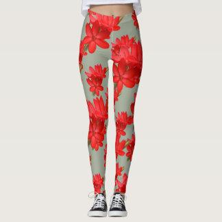 Kaffir Lily / River Lily / Hesperantha Coccinea Leggings