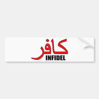 Kafir / Infidel Merchandise Bumper Sticker