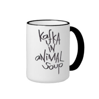 Kafka en la sopa animal taza de dos colores