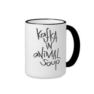Kafka In Animal Soup Ringer Mug
