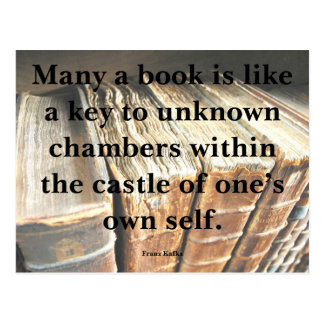 Kafka Quote on Books Postcard