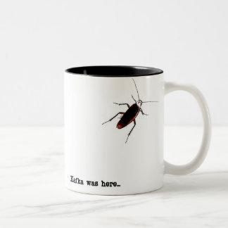 Kafka was here... Two-Tone coffee mug