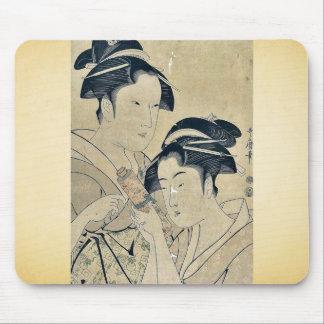Kagiya and Takashima by Kitagawa Utamaro Mouse Pads