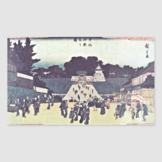 Kagurazaka and Ushigome Rectangular Sticker