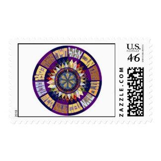 Kah Bar Mitzvah Monogram Stamps