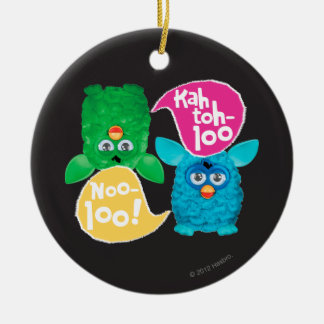 KAH TOH-LOO Double-Sided CERAMIC ROUND CHRISTMAS ORNAMENT
