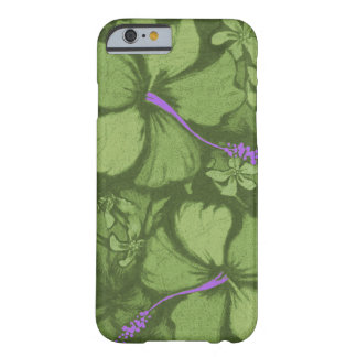 Kahala Hibiscus Hawaiian Lava Rock Illustration Barely There iPhone 6 Case