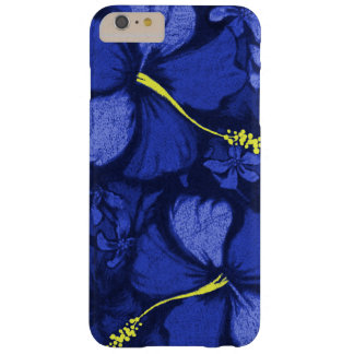 Kahala Hibiscus Hawaiian Lava Rock Illustration Barely There iPhone 6 Plus Case