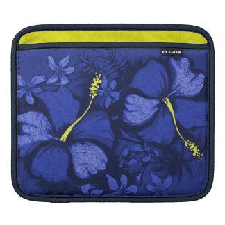 Kahala Hibiscus Hawaiian Lava Rock Illustration Sleeve For iPads