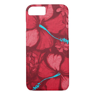 Kahala Hibiscus Hawaiian Lava Rock Illustration iPhone 8/7 Case