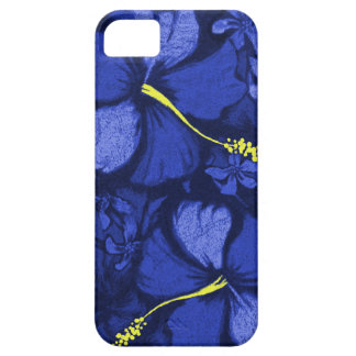 Kahala Hibiscus Hawaiian Lava Rock Illustration iPhone SE/5/5s Case