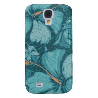Kahala Hibiscus Hawaiian Lava Rock Illustration Samsung Galaxy S4 Case