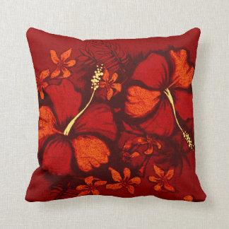 Kahala Hibiscus Hawaiian Tropical Square Pillows