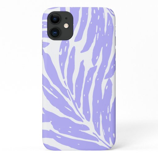 Kahanu Garden Hawaiian Palm Leaves Lavender iPhone 11 Case