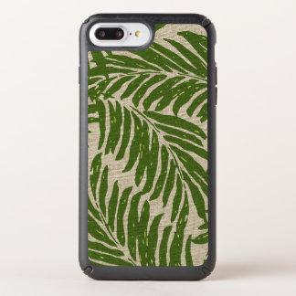 Kahanu Palms Hawaiian Faux Linen Texture Speck iPhone Case