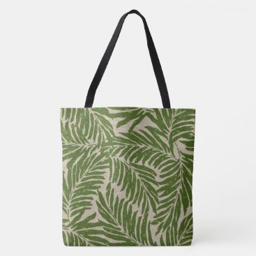 Beach Themed Kahanu Palms Hawaiian Linen Texture Beach Bag