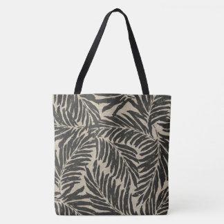 Kahanu Palms Hawaiian Linen Texture Beach Bag