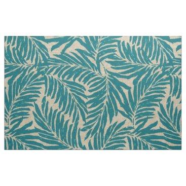 Beach Themed Kahanu Palms Hawaiian Linen Texture Fabric