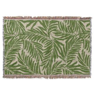 Kahanu Palms Hawaiian Linen Texture Throw Blanket