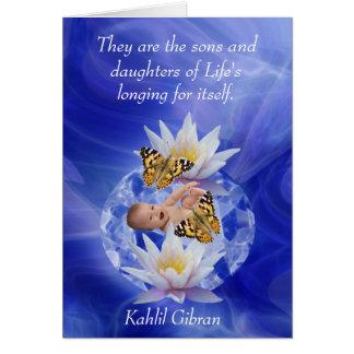 Kahlil Gibran about children Card
