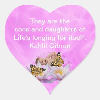 Kahlil Gibran about children Heart Sticker