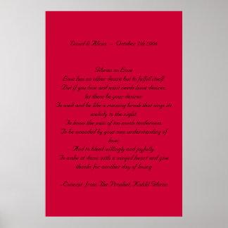 Kahlil Gibran en amor Posters