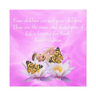 Kahlil Gibran On children and babies Canvas Print