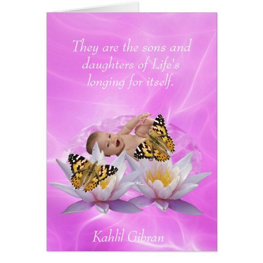 Kahlil Gibran On children and babies Card