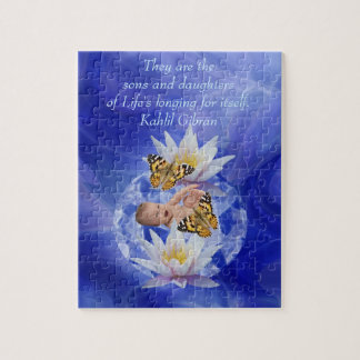Kahlil Gibran On children and babies Jigsaw Puzzle