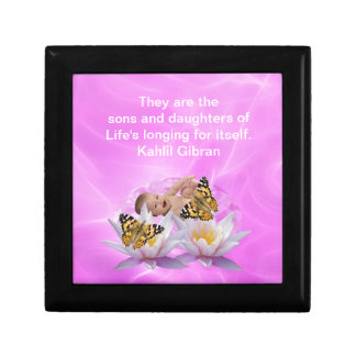 Kahlil Gibran On children and babies Keepsake Box