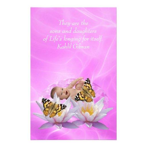 Kahlil Gibran On children and babies Stationery Design