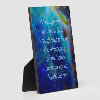 Kahlil Gibran on work Plaque
